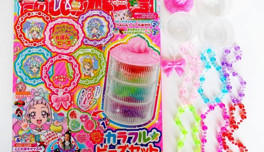 【購入レビュー】たのしい幼稚園 11月号 付録 3だんケースつき カラフル★ビーズセット