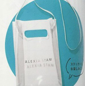 【次号予告】JJ(ジェイジェイ)2019年6月号《特別付録》ALEXIA STAM(アリシアスタン)のPVCショルダーバッグとロゴステッカー