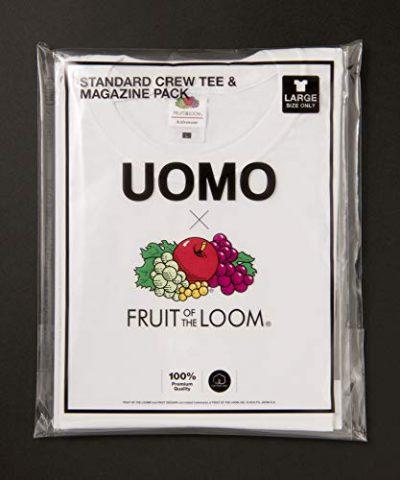 【新刊情報】UOMO(ウオモ)2019年10月号×FRUIT OF THE LOOM(フルーツオブザルーム)スタンダード クルーTシャツ & マガジン パック