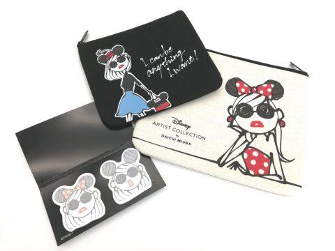 【フラゲレビュー】sweet(スウィート)2020年3月号増刊《特別付録》Disney ARTIST COLLECTION by DAICHI MIURA スペシャルアートポーチ2点×オリジナル付箋