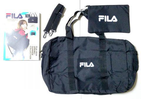 【開封レビュー】FILA(フィラ) BIG BOSTON BAG & POUCH BOOK