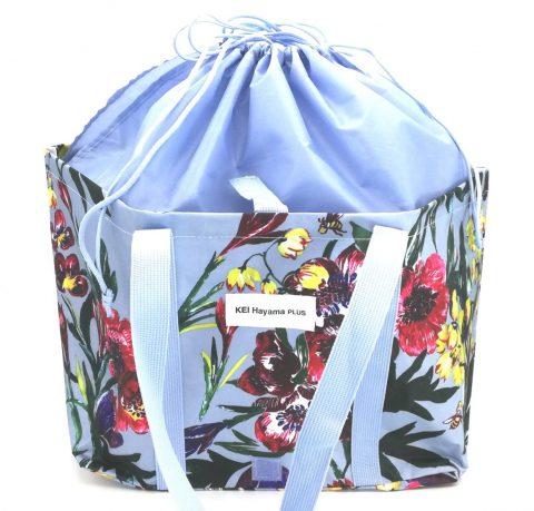 【フラゲレビュー】素敵なあの人 2020年5月号《特別付録》KEI Hayama PLUS (ケイ ハヤマ プリュス)の華やか柄!折りたたみレジかごバッグ