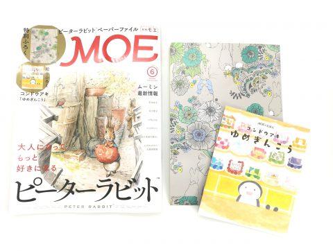 【開封レビュー】MOE(モエ)2020年6月号《特別付録》ピーターラビットペーパーファイル&コンドウアキ描きおろし絵本
