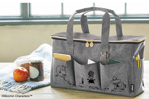 【新刊情報】MOOMIN (ムーミン)マルチに使える BIGなピクニックバッグ BOOK GRAY ver.