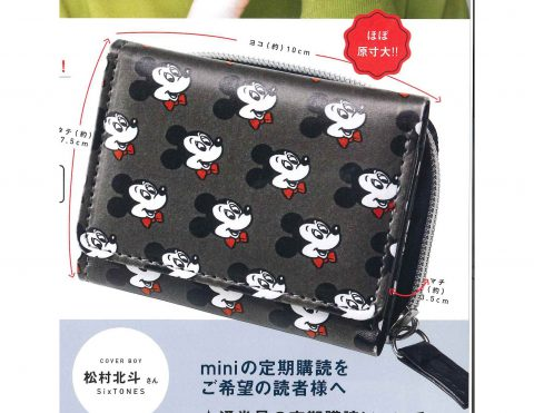 【次号予告】mini(ミニ)2021年3月号《特別付録》SHIPS any(シップスエニィ)ミッキーマウスデザイン オトナの優秀ミニ財布