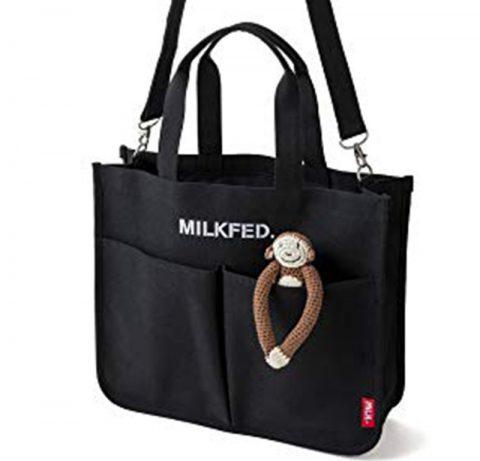【新刊情報】mini(ミニ)特別編集 MILKFED. (ミルクフェド)SPECIAL BOOK 5-Pocket Big Bag #BLACK