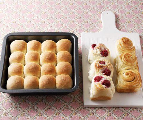 【新刊情報】NEWスクエア型付き! 日本一簡単に家で焼ける 1時間でちぎりパンレシピ