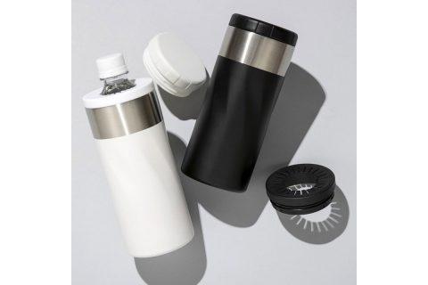 【新刊情報】圧倒的な保冷/保温 ペットボトルも入る 万能ステンレスボトルBOOK WHITE/BLACK